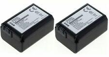 2x Akku für SONY NP-FW50 NEX-5 NEX-3 Alpha 57 ILCE 5000 A6300 7R II DSC-RX10 III