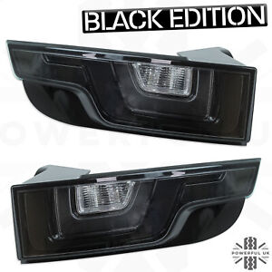 Black LED rear lights for Range Rover Evoque smoked tinted back tail lamps lens
