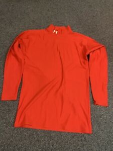Mens Under Armour Red Cold Gear Compression Top XL