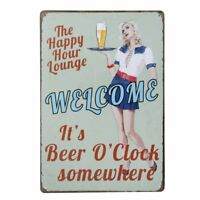 Vintage Metal Tin Wall Sign Plaque Poster for Cafe Bar Pub Beer Size 20x30cm