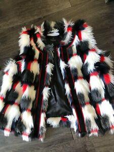 New Ladies Size 22 Fluffy Gillet Jacket By Designer Madeleine