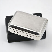 1 X Classic Stainless Metal Cigarette Tobacco Box for 70MM Papers Storage Case