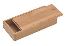 Stiftebox mit Schiebe-Deckel -  Holzbox, Holzschachtel aus lasiertem Buchenholz