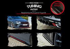Bodykit Frontspoiler Heckdiffusor Schweller ABS für Kia ProCeed GT Schwarz Glanz