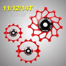 CNC Bicycle Rear Derailleur Pulleys Sealed Bearing 11/12/14T Bike Jockey Wheels