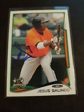 2014 Topps Pro Debut Jesus Galindo Signed IP Auto RC Rookie Card Giants MLB #221