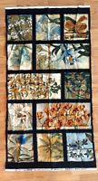 ✂ Orchid Panel Teal Oriental Traditions Robert Kaufman Cotton Fabric Destashing