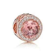 Authentic PANDORA Rose Blush Pink Radiant Hearts Charm Pendant 781725NBP