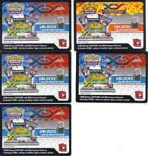 ~Pokemon Trading Card Game 5 Online Booster Pack Code x 5  Fast Ship!
