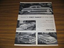 1953 Print Ad '53 Chrysler New Yorker Deluxe 4-Dr & Convertible,Imperial,Windsor