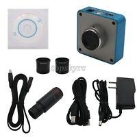 34MP Industrial Microscope Camera 0.5X C-mount Lens 2K/1080P 60FPS HDMI USB tps