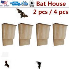 2 4 pcs Garden Colony Bat House Backyard Mosquito Control Nest Box Outdoor Wood