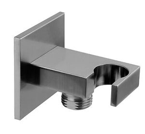 "Wall connection bow Rettangolo Bagno 1/2"" m.Brausehaltalter 75mm Gessi 20164031"