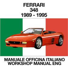 MANUALE OFFICINA UFFICIALE riparazione in assistenza FERRARI 348 1989-1995