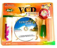 Limpiador de lentes Lens Cleaner para CDROM DVD CD VCD DVD nuevo 6 EN 1