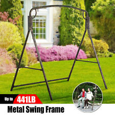 Hanging Porch Swing Frame Bronze Iron Sun Ray Outdoor Patio Balcony Yard Garden