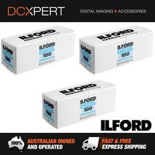 ILFORD DELTA 100 120 ROLL FILM – 3 PACK - BLACK & WHITE NEGATIVE FILM