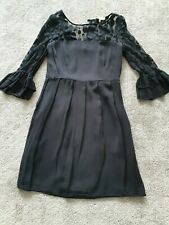 Somerset by Alice Temperley Black Silk Dress Size 10