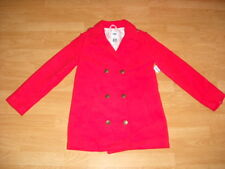 Girls Old Navy Red Pea Coat Dress Jacket Lined Soft 14 XL NWT