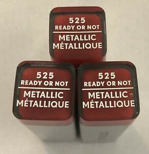 (3) Covergirl Exhibitionist Metallic Lipstick, 525 Ready Or Not