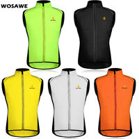 Windproof Cycling Vest Hi-Viz MTB Bike Sleeveless Jacket Lightweight Tops Gilet