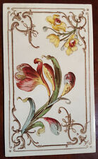 "Rare Antique Villeroy and Boch Tile. 4 3/4"" x 8 1/4"""