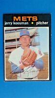 1971 Topps Jerry Koosman New York Mets Baseball Card # 335