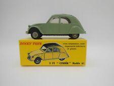1/43 Dinky Toys Atlas F Citroen 2cv berline 1961 Vert 558 Neuf Boite Verte Rare