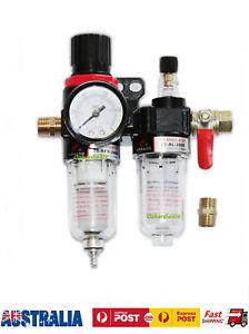 Air Compressor Water Trap Oil Moisture Filter Regulator Lubricator Mount