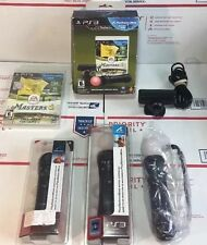 NEW / Open Box  Sony Playstation 3 PS3 Move Bundle Two Controllers / EYE + MORE