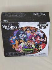 Disney Puzzle Circle of Villains - 200 Piece Circular - New Sealed - 10557