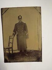 Schweiz - Herr Burgi / Bürgi als Soldat ? Polizist ? in Uniform Helm/ Ferrotypie