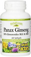 Natural Factors Panax Ginseng, 60 softgels