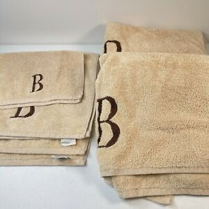 Avanti Premier bath towel set 5 brown embroidered B 100% cotton