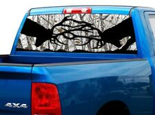 P439 Deer Buck Rear Window Tint Graphic Decal Wrap Back Pickup Graphics