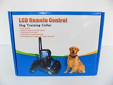 Dog Training Collar  330 YD Remote Control with LCD Light, Beep, Vibration shock