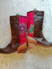 Cowboy Ladies Size 6 Leather Boho Festival Boots