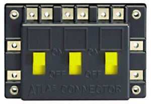 Atlas Electrical Track Power Connector with Three On/Off Switches (HO/N Scale)