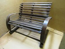 Antique miniature SLATTED doll bench WOULD SEAT 2 LARGE DOLLS OR BEARS