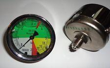 Manometer 63mm 0-5-25 bar Anschluß hinten, flüssigdüngerfest  - für Feldspritze