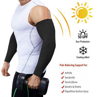 Compression Arm Sleeve Elbow Support Brace Joint Pain Relief Arthritis Fitness