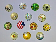 20PC. Mixed Clocks 12MM Glass Cabochons Dome Flatback Half Round For DIY NEW