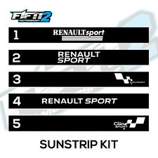 Renault Clio Sunstrip Kit Graphic Decals Stickers Cup 172 Twingo Megane RS