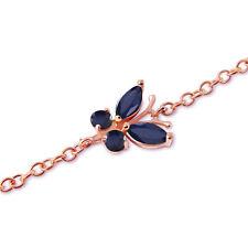 0.6 Carat 14K Solid Rose Gold Butterfly Bracelet Sapphire