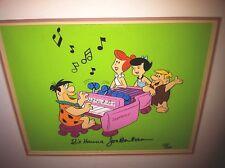 Flintstones Hanna Barbera Signed Cel Stoneway Rare animation Art Edition Cell