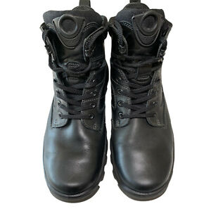 "Ecco Track 5 Gortex Tactical Boots Men's EU 45 US 11 Black 6"" Black Lace-Up"