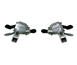 SRAM Dual Drive 8 x 3 Speed Shifter Set With Gear Cables - Silver