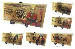 Naruto Karten Manga Anime Gold Optik Sammeln Dekoration Lesezeichen Shippuden