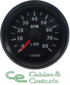 VDO Cockpit Vision Tachometer 52mm 0-8000rpm 12V tacho 333015031