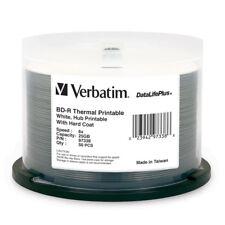 ($0 P&H) Ctn Lot 4x Verbatim Blu-Ray Disc BD-R 25GB wide thermal 50Pk Pn 97338